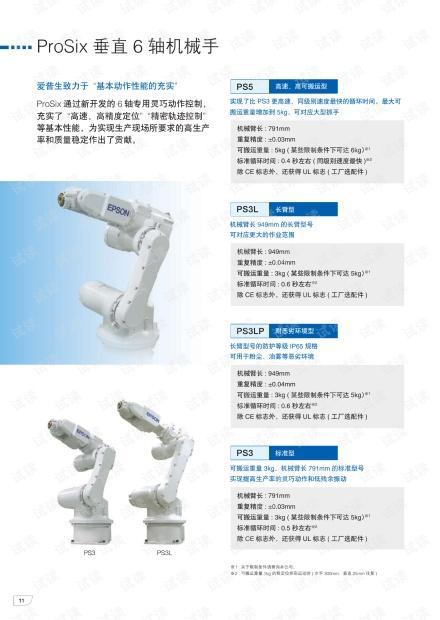 爱普生ProSix垂直6轴机械手样本手册.pdf