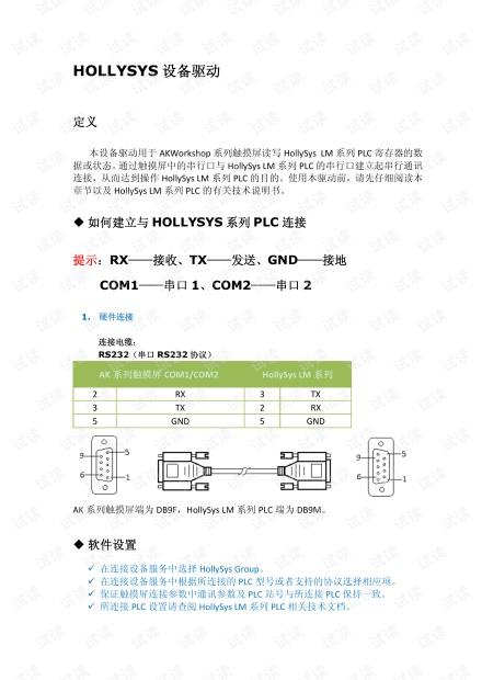 显控HMI与和利时PLC通讯驱动 简介.pdf