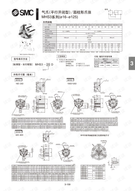 smc-MHS3气爪(平行开闭型)_圆柱形爪体.pdf.pdf
