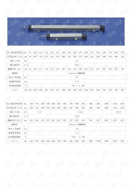 米朗KTC系列拉杆直线位移传感器详图.pdf