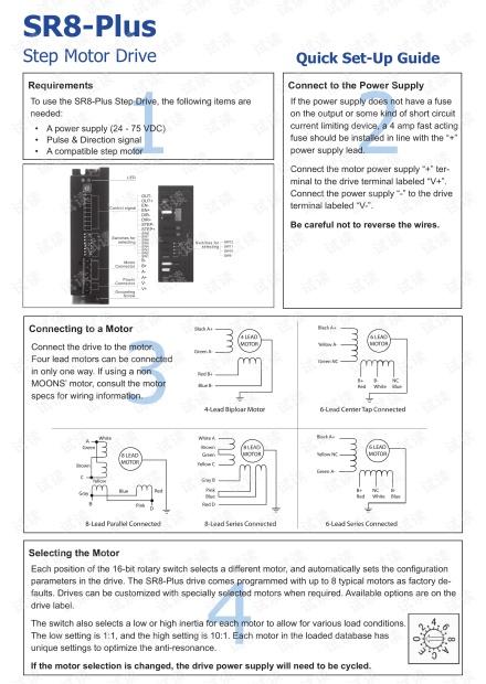 上海安浦鸣志-步进电机驱动器-SR8-Plus 英文-SR8-Plus 快速入门.pdf