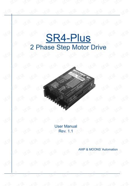 上海安浦鸣志-步进电机驱动器-SR4-Plus 英文-SR4-Plus 用户手册.pdf
