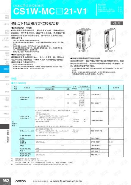 欧姆龙SYSMAC用运动控制单元CS1W-MC□21-V1.pdf