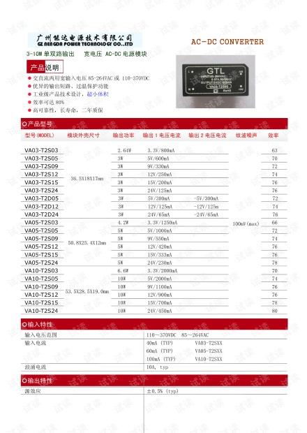 广州能达3-10W单双路输出宽电压AC-DC电源模块产品说明.pdf