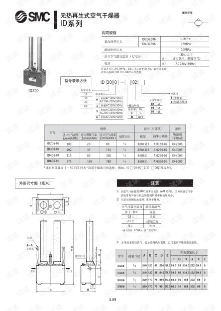 smc-干燥机-无热再生式空气干燥器ID.pdf.pdf