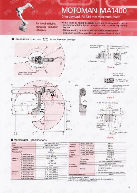 MOTOMAN弧焊机器人MA1400样本.pdf