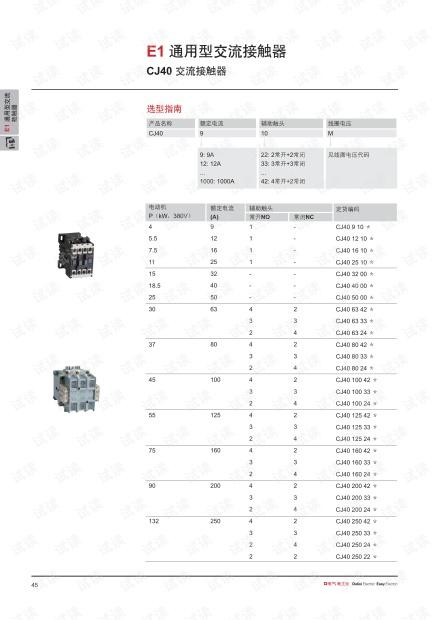 德力西CJ40 系列交流接触器.pdf