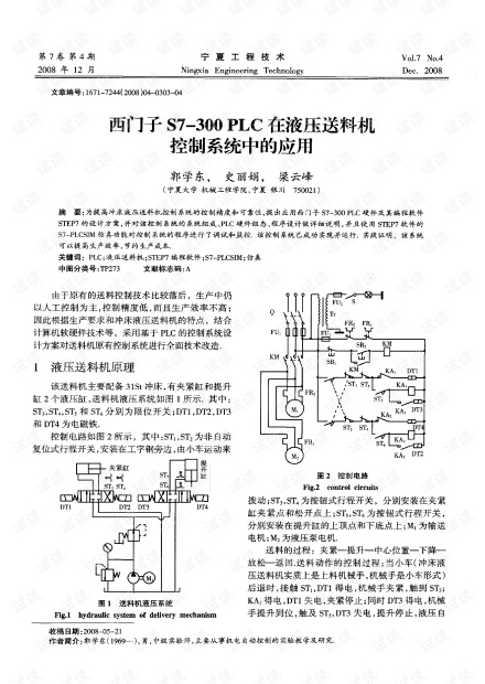 论文 西门子S7—300PLC在液压送料机控制系统中的应用.pdf.pdf