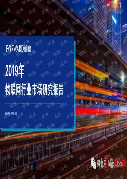 2019年物联网行业市场研究报告.pdf