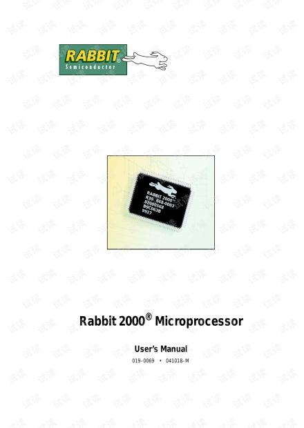 Rabbit 2000 Microprocessor.pdf