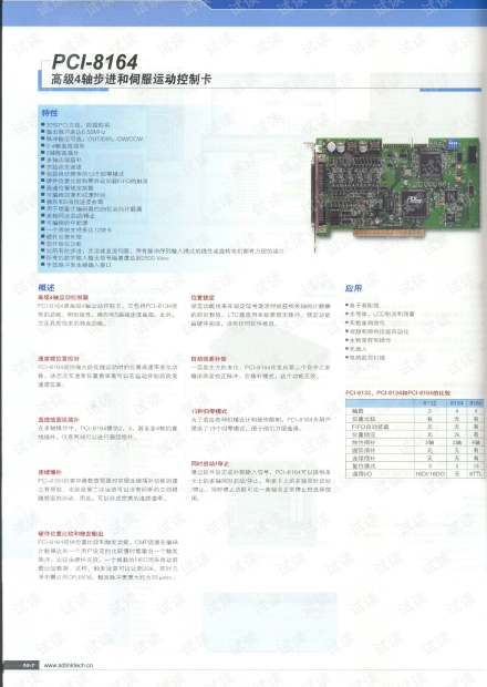 ADLINK PCI-8164 高级四轴步进和伺服运动控制卡.pdf