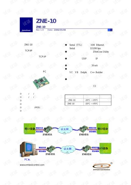 广州致远 ZNE-10 产品数据手册.pdf