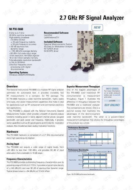 NI PXI-5660射频信号分析仪介绍.pdf