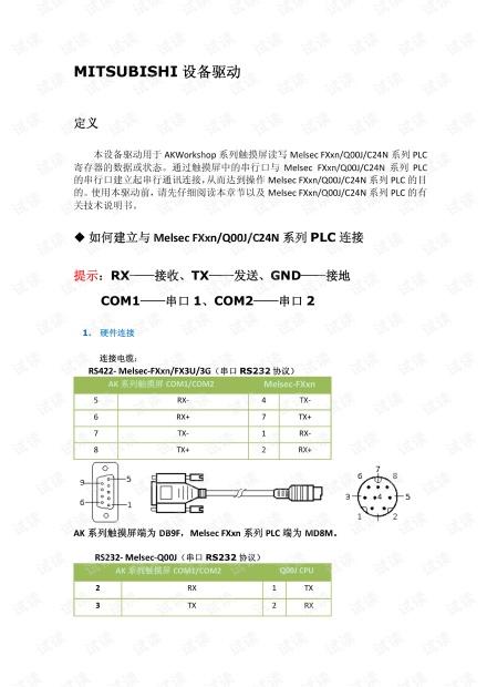 显控HMI与三菱PLC驱动 简介.pdf