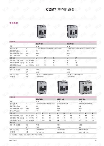 德力西CDM7 塑料外壳式断路器.pdf