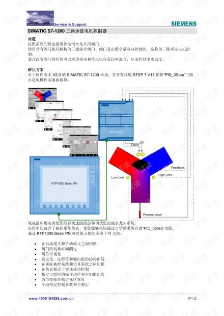 西门子SIMATIC S7-1200三路步进电机控制器.pdf