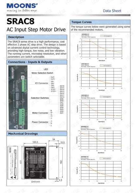 上海安浦鸣志-步进电机驱动器-SRAC8 英文-SRAC8 技术规格.pdf
