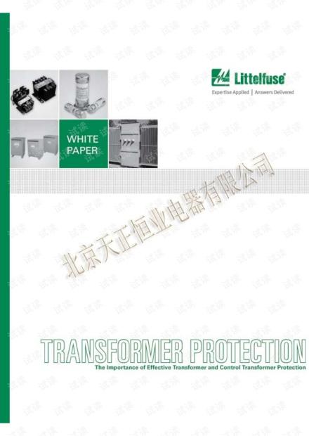 力特 有效保护变压器和控制变压器的重要性(英文).pdf
