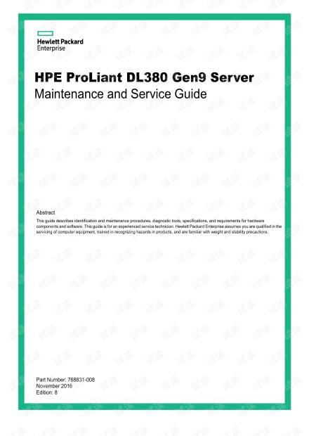 HPE ProLiant DL380 Gen9 Server Maintenance and Service Guide.pdf
