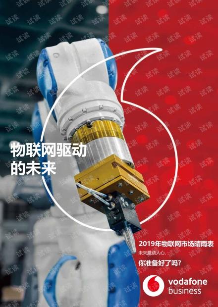 2019年物联网市场晴雨表-沃达丰