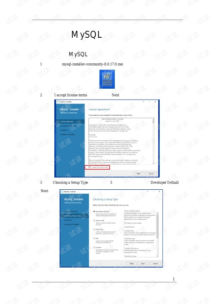 MySQL安装教程+Visual Studio 2017 C#连接远程 MySQL数据库.pdf