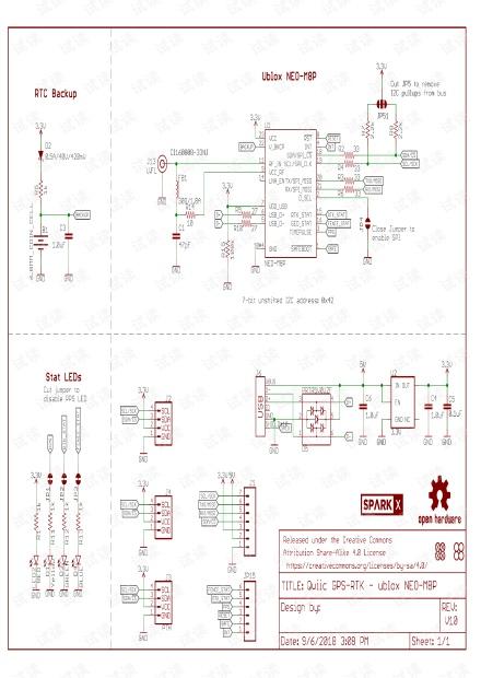 GPS RTK ublox_NEO-M8P开发板原理图