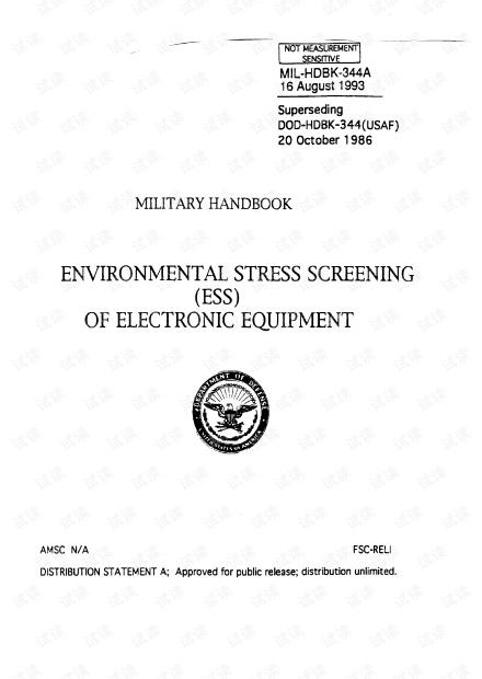 Environmental Stress Screening (ESS) of Electronic Equipment MIL-HDBK-344A.pdf