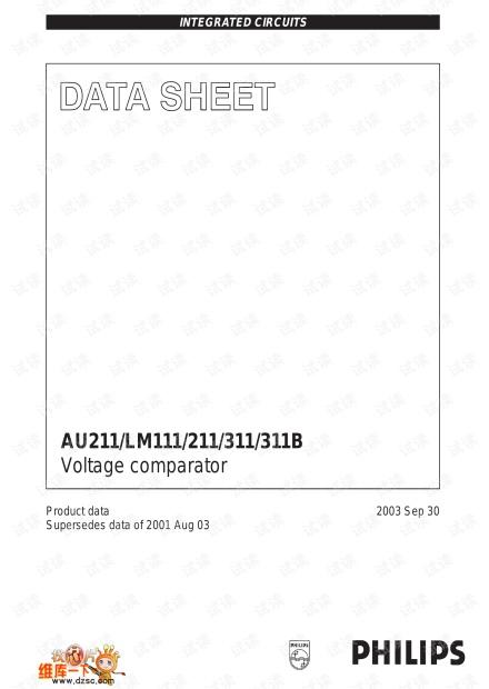 比较器LM211比较器,当同向输入端的电压大于反向输入端的电压,输出为高电平。反之为低电平。
