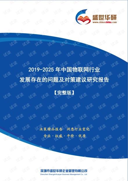 【完整版】2019-2025年中国物联网行业发展存在的问题及对策建议研究报告.pdf