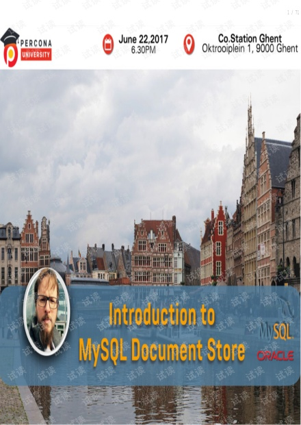 mysql 文档存储 MySQL Document Store.pdf