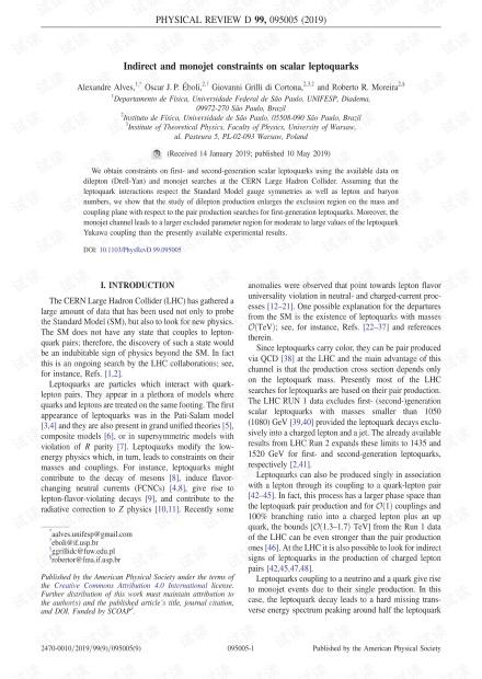 标量le夸克的间接和单喷射约束