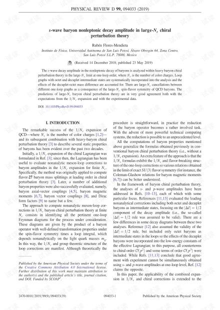 大Nc手性摄动理论中的s波重子非轻子衰减幅度