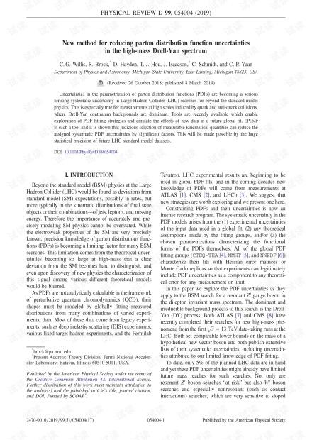 减少高质量Drell-Yan谱中parton分布函数不确定性的新方法