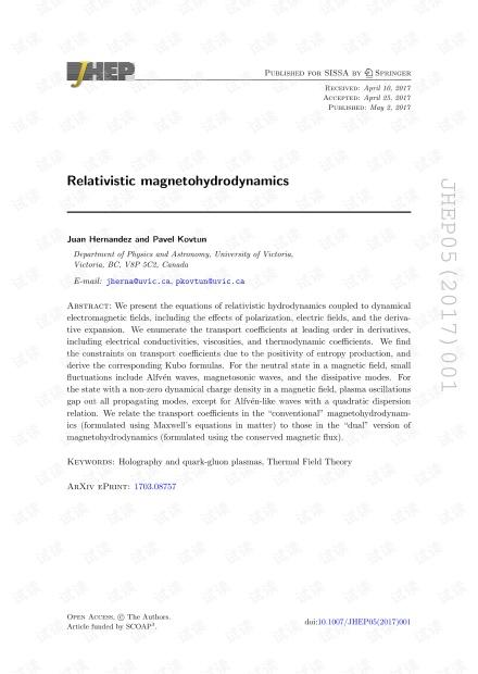相对论的磁流体动力学