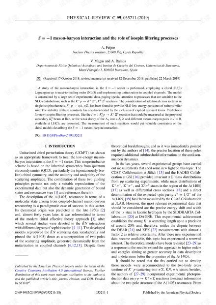S = -1介子重子相互作用和同位旋滤波过程的作用