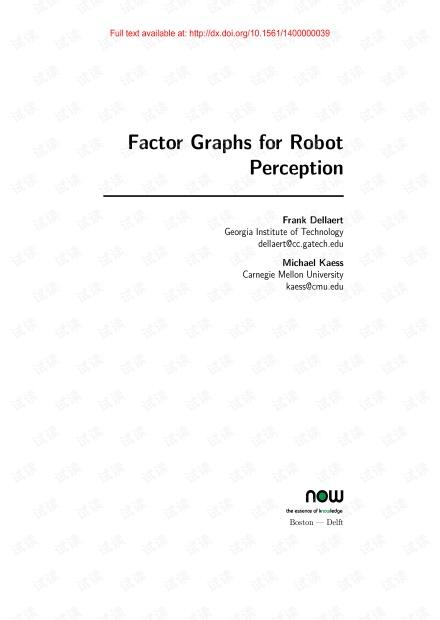 Factor Graphs for Robot Perception.pdf