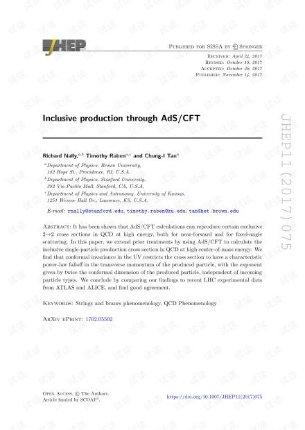 通过AdS / CFT进行包容性制作