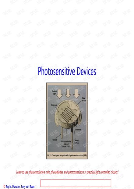 Photosensitive devices, Photosensitive devices, LEDs, sample circuits.pdf