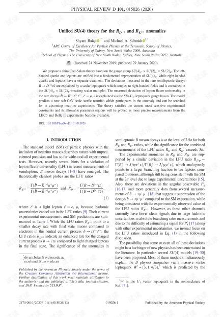 RD(*)和RK(*)异常的统一SU(4)理论