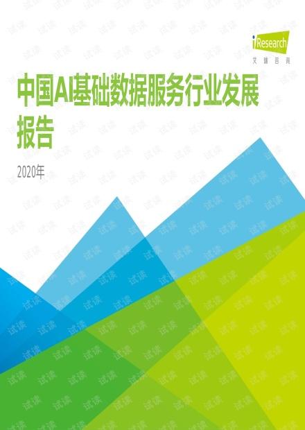 2020年中国AI基础数据服务行业研究报告.pdf