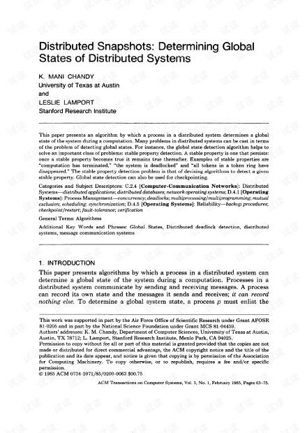 分布式一致性快照算法.pdf