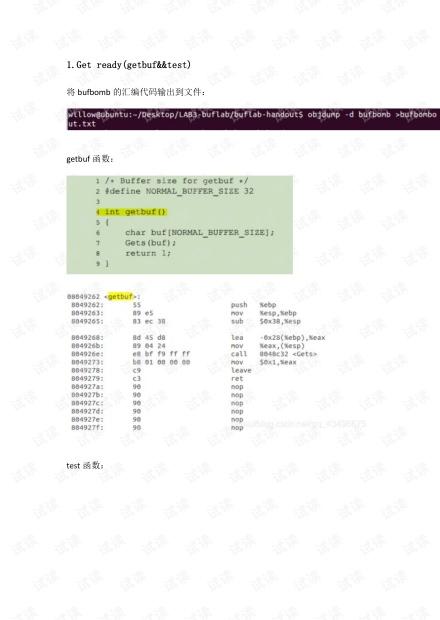 buflab实验报告.pdf