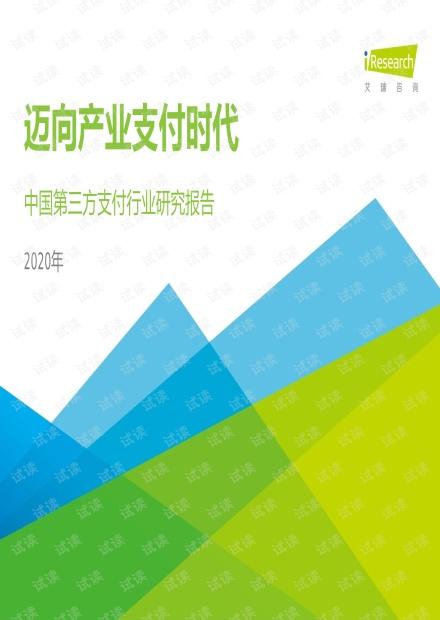 2020年中国第三方支付行业研究报告.pdf