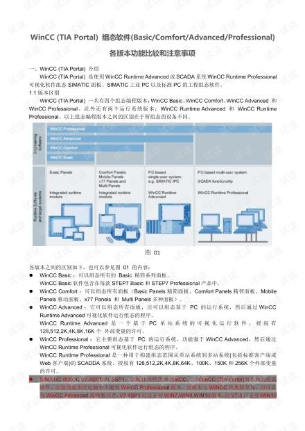 TIA Portal WinCC各版本功能比较.pdf