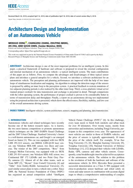 Architecture Design and Implementation of an Autonomous Vehicle.pdf