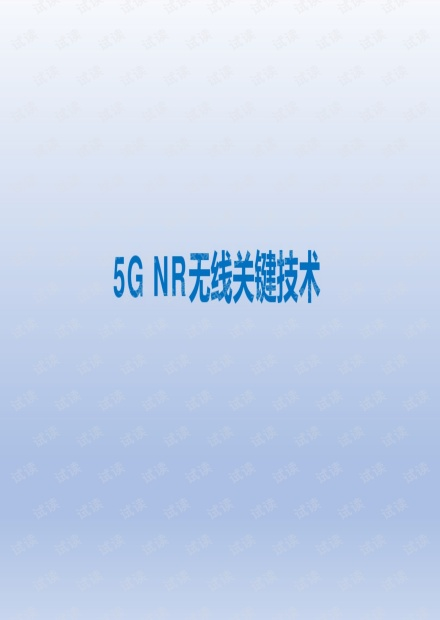 5GNR无线关键技术.pdf