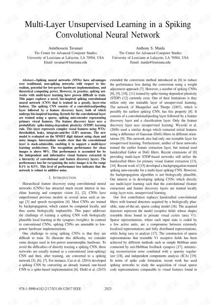 多层卷积脉冲神经网络.pdf