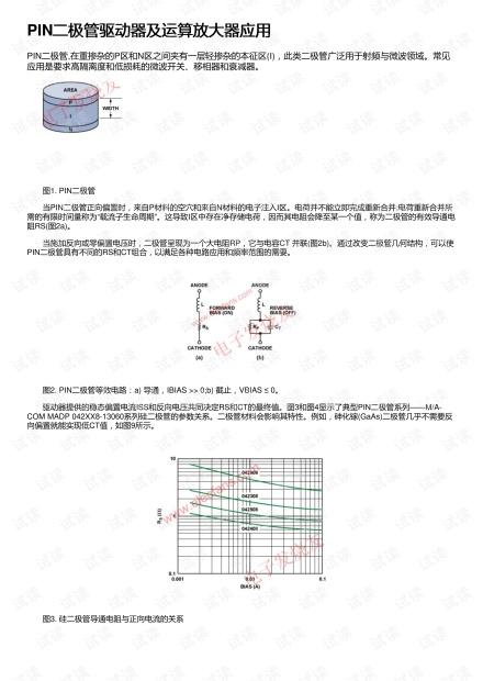 PIN二极管驱动器及运算放大器应用