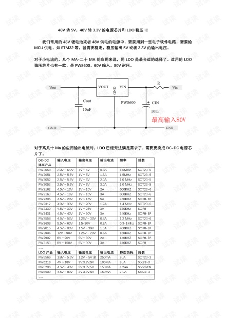 48V转5V,48V转3.3V电源芯片,稳压ic.pdf