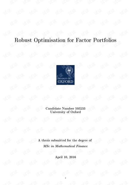 Robust Optimization for Factor Portfolios.pdf